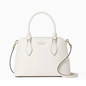 KATE SPADE White Darcy Small Zip Top Satchel